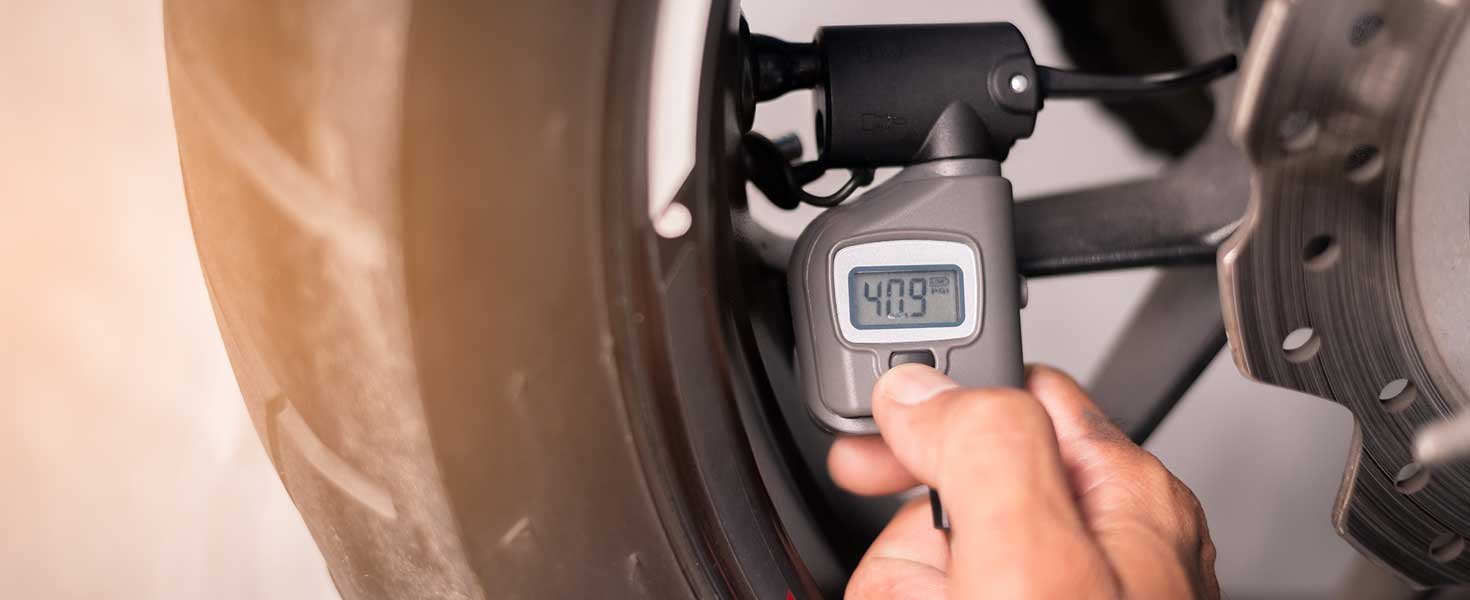 Motorcycle tire pressure monitoring.